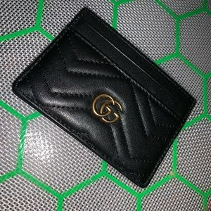Black Gucci Marmont Card Holder